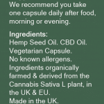 Premium 20mg CBD Oil Capsules | FREE Next-Day UK Delivery