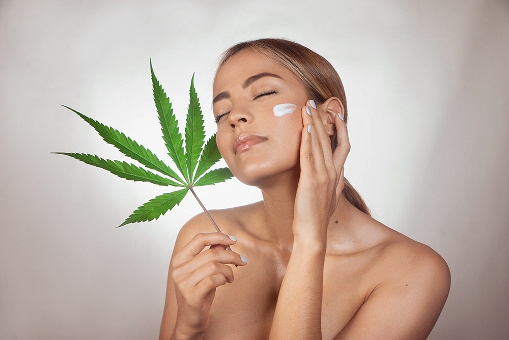 CBD Topical being applied by a woman