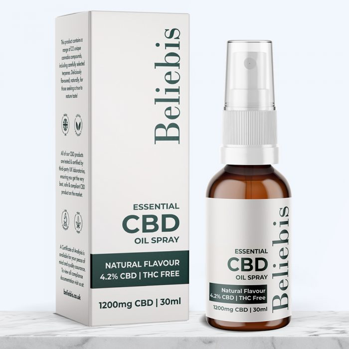 CBD Oil Spray Natural Flavour 1200mg