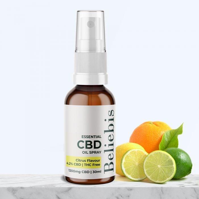 CBD oil spray | Citrus Flavour | 1200mg CBD