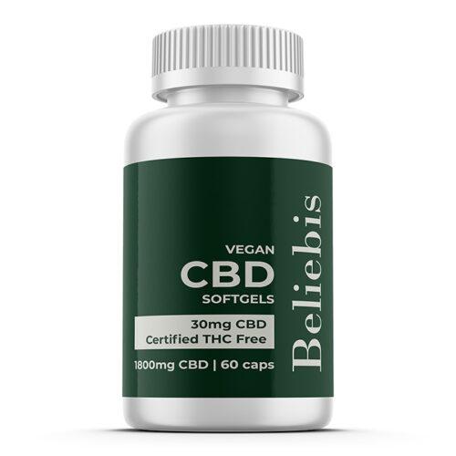 CBD Capsules | 1800mg CBD | 60 Softgels