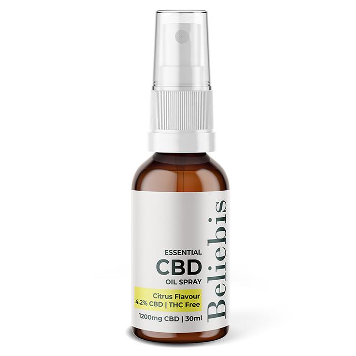 Essential CBD Oil Spray Bottle - 1200mg Citrus