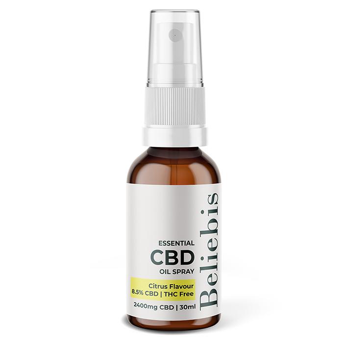 Essential CBD Oil Spray Bottle - 2400mg Citrus