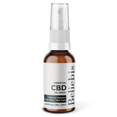 Essential CBD Oil Spray Bottle - 2400mg Natural