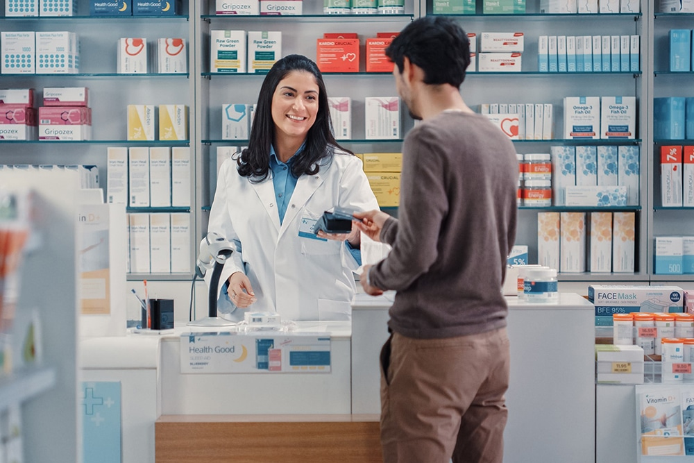 Buying CBD products in store