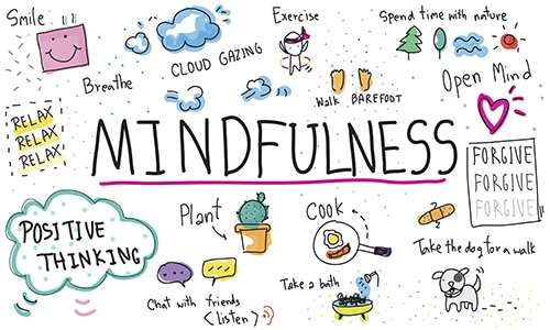 Practice mindfulness to relieve anxiety