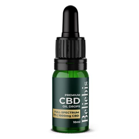 1000mg Full Spectrum CBD Oil in a 10ml Bottle
