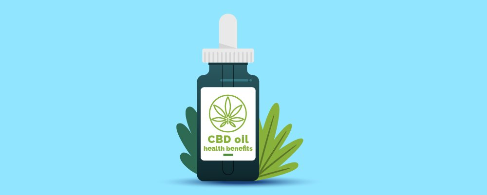What is CBD? Article Header Image with CBD oil bottles and hemp leaves