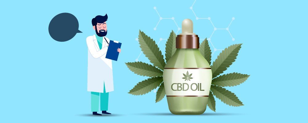 What Are The Health Benefits Of CBD? Image with doctor analysing cbd products