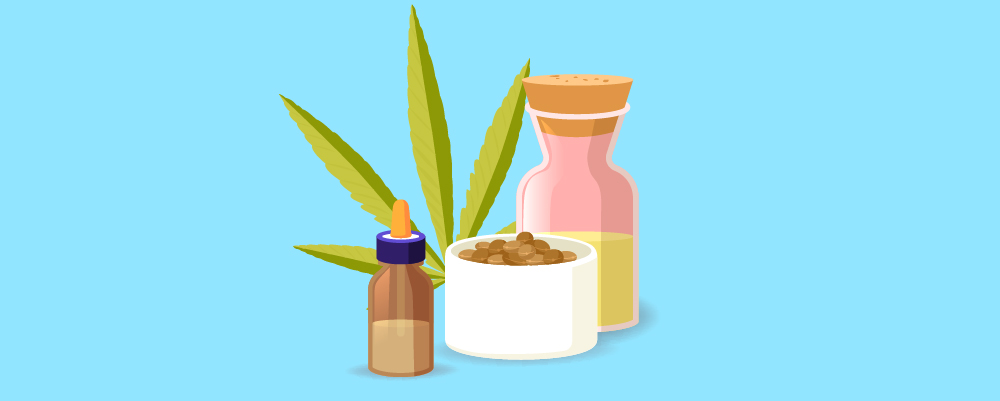 Ways of using CBD products include; Image with cbd products