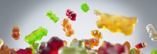 Vegan Gummies UK Article Featured Image Flying Gummy Bears